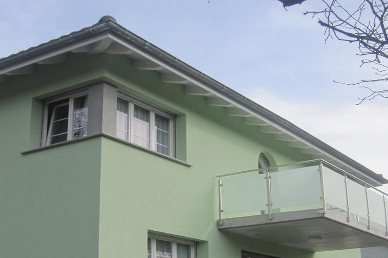 Erfrischende Hausfassade